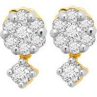 Avsar Real Gold and Diamond Pressure Set  Earrings # AVE020