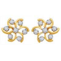 Avsar Real Gold and Diamond Fashion Nakshatra Earring # AVE023