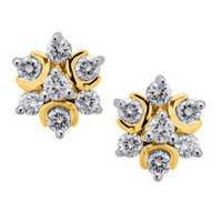 Avsar Real Gold and Diamond Star Fancy Earring # AVE024