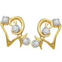 Asian Real Gold and Diamond Fancy Earring # AVE030