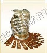 Golden Muscle Armour With Leather Straps