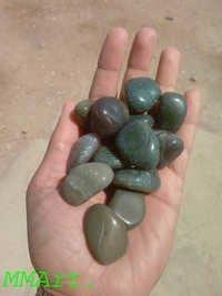 Dark Green Moss Agate Pebbles