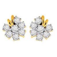 Avsar Real Gold and Diamond Pressure Set Earring # AVE032