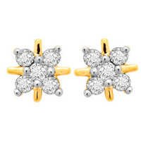 Avsar Real Gold and Diamond Fashion Earring # AVE033