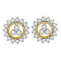 Avsar Real Gold and Diamond Tradintional Earring # AVE034