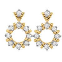 Avsar Real Gold and Diamond Traditional Earring # AVE036