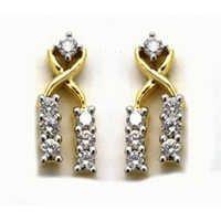 Avsar Real Gold and Diamond Fancy Dangle Earring AVE044