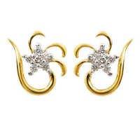 Avsar Real Gold and Diamond Nakshatra Earring AVE049
