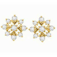 Avsar Real Gold and Diamond Fashion Earring AVE056