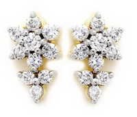 Avsar Real Gold and Diamond Beautiful Flower Earring  # AVE058