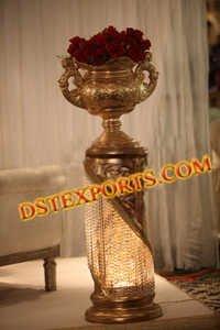 Wedding Crystal Pillar With Flower Pot