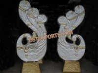Wedding Peacock Design Pillars