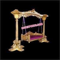 Wedding Golden Carved Swing