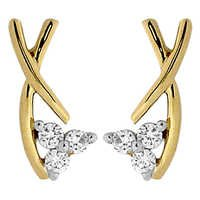 Avsar Real Gold and Diamond Beautiful Fancy Earring # AVE0108