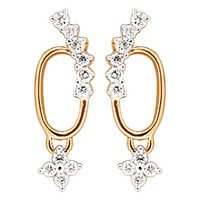 Avsar Real Gold and Diamond Latkania Fashion Earring # AVE0109