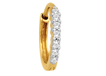Avsar Real Gold And Diamond 7 Stone Hoop Nose Ring Avno008 Atc