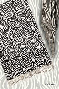 100% viscose printed zebra