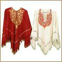 100% woollen ponchos embroidery