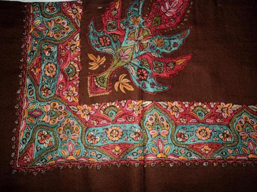 Pure Pashmina Kashmiri GulabKaari Embroidery Shawl