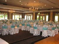WEDDING BANQUET HALL SILVER CHAIR COVER