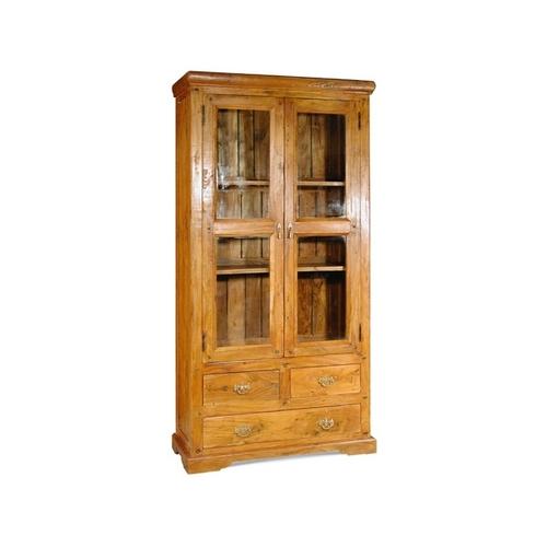 90X38X180 Glass Door Cabinate