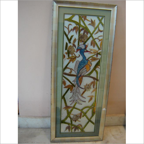 Dry Leaf Glass Painting