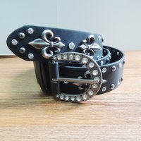 40MM Leather Belts with Rivets (#007)