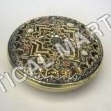 Brass Box Round Perforated