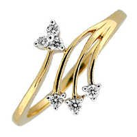 Bling! Diamond Accessories  Daily Wear Real Gold and Diamond Traditional Ring # BGR038