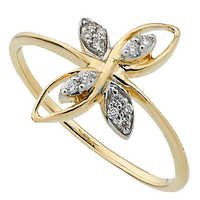 Bling! Diamond Accessories Daily Wear Real Gold and Diamond Traditional Ring # BGR039