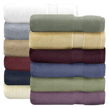 Plain Dyed Towel with Border