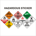 Hazardous Sticker
