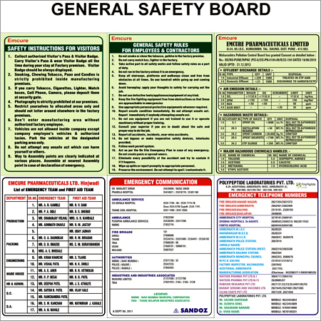 General Safety Sticker