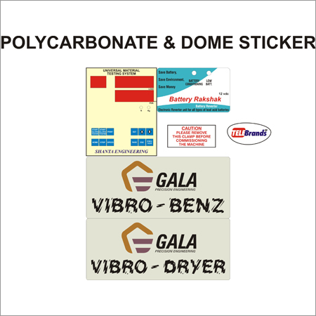 Polycarbonate & Dome Sticker