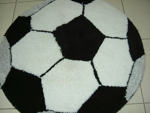 Football Shaped Bath Mat