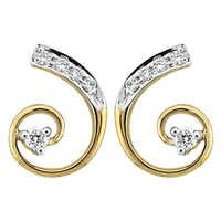 Bling! Diamond Accessories Daily Wear Curve Style Of Earring # BGE0036