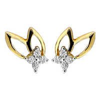 Bling! Diamond Accessories Daily Wear Fancy Leaf  Shape Earring # BGE041