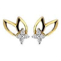 Bling! Diamond Accessories Daily Wear Fancy Leaf  Shape Earring # BGE041