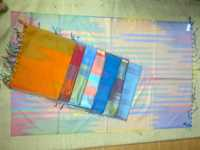 100% silk rainbow scarfs