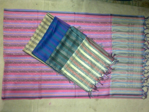 100% silk check pasiley scarfs
