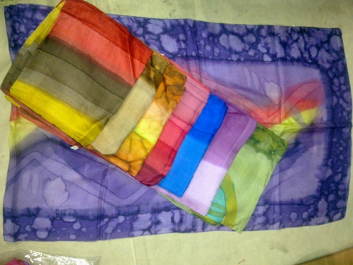 100% pure silk scarfs hand painted