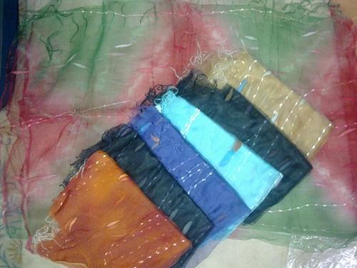 100% silk organza scarfs