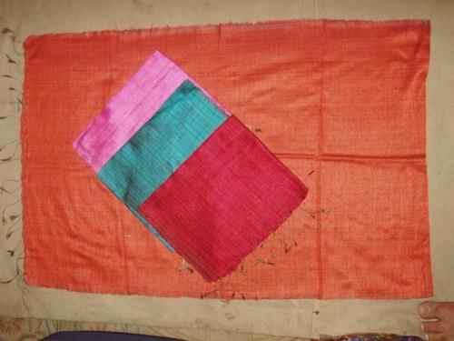 100% dupion silk scarfs