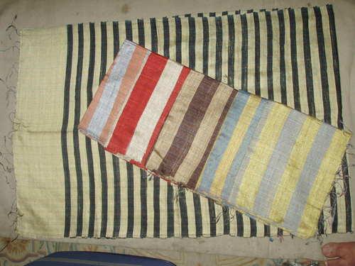 100% dupion silk scarfs in check