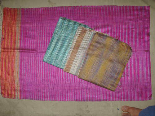 100% dupion silk scarfs in multi threads