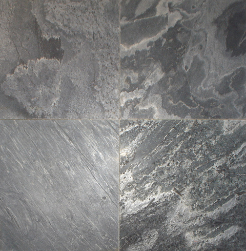 Silver Grey Polished  Slate Stone
