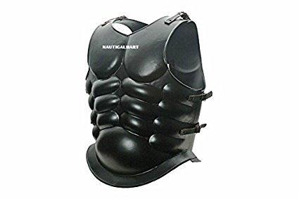 Roman Black Steel Muscle Breastplate