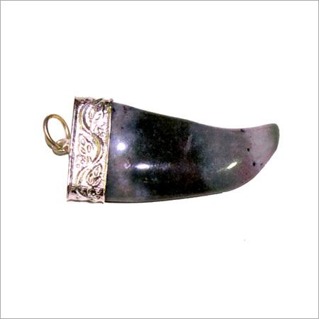 Blood Fancy Stone Nail Pendant