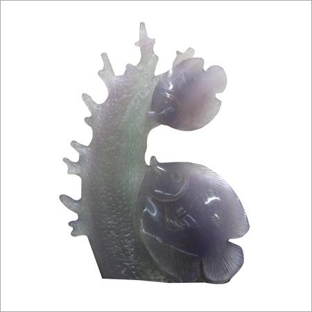 Flourite Shaded carved Figure