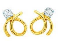 Unique Solitaire Diamond Studio Fancy Shape Earrings UQE021